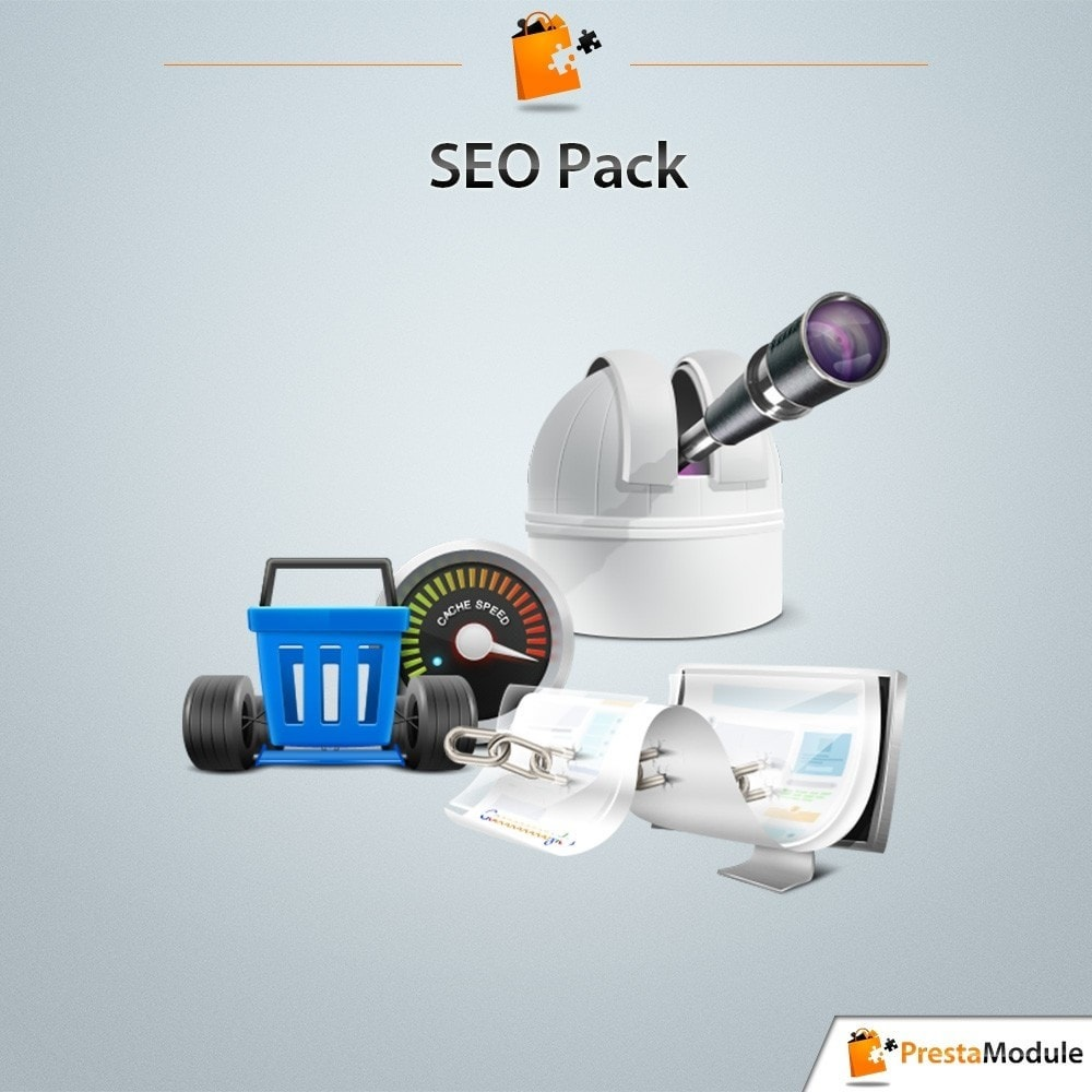 pack - SEO (Posicionamiento en buscadores) - Pack SEO: 3 modules to optimize your Google ranking - 1