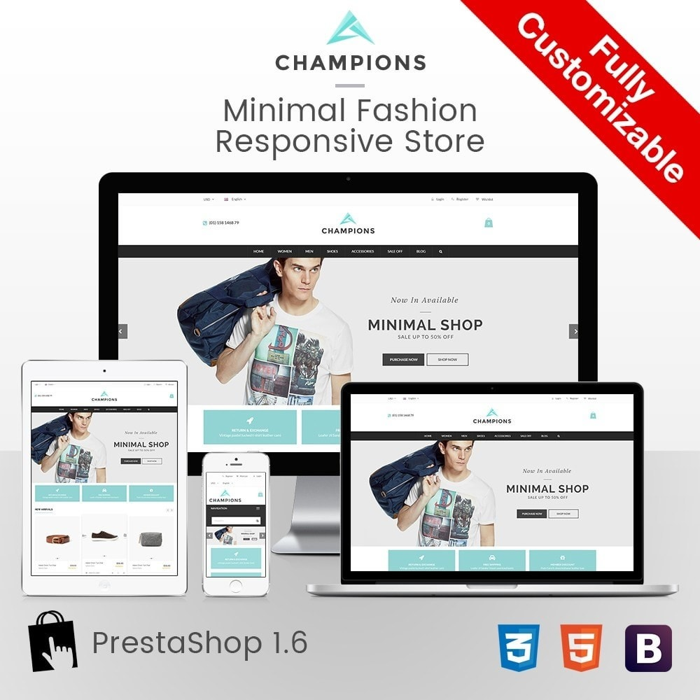 theme - Fashion & Shoes - Parallax Fashion Minimal - Champion Responsive Store - 1