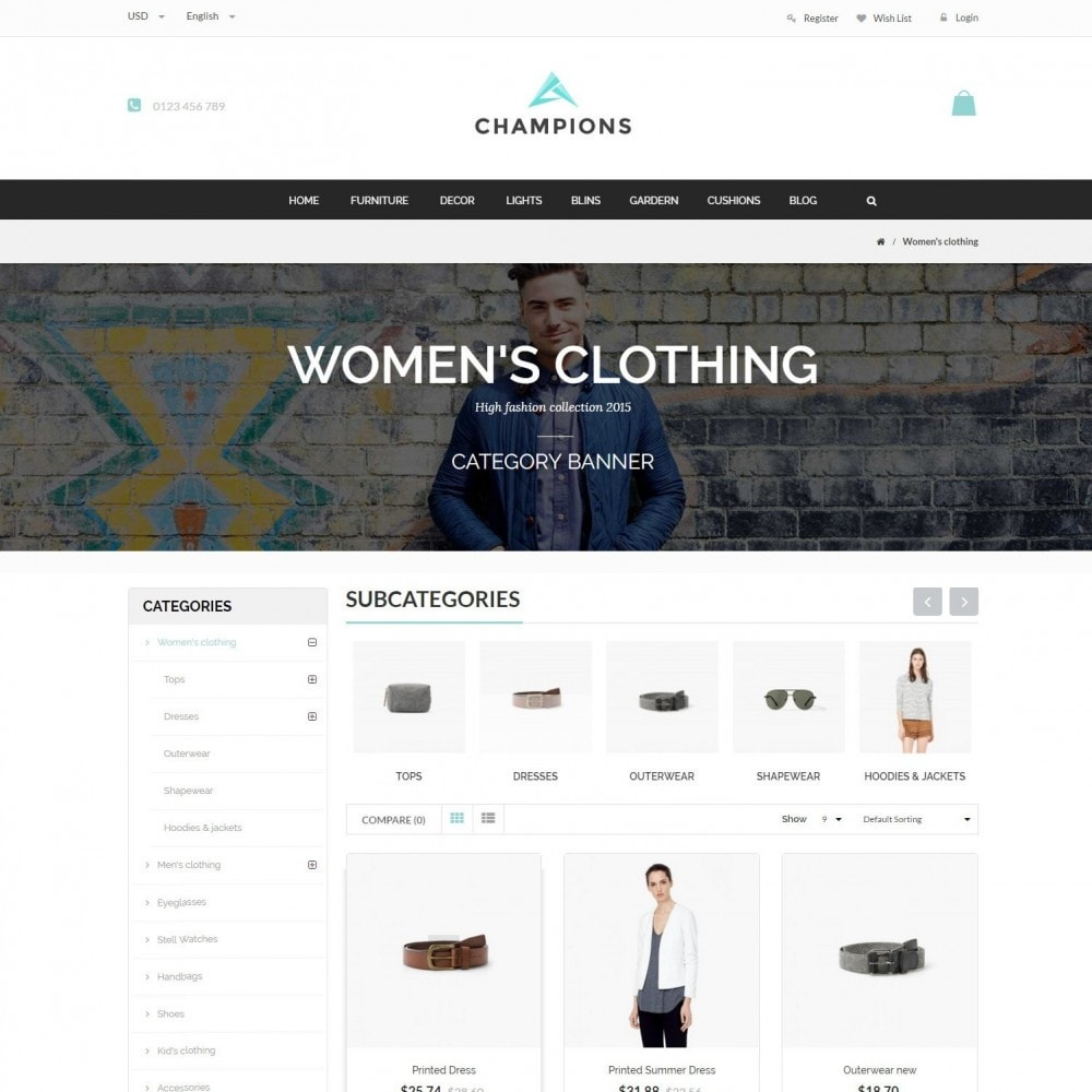theme - Fashion & Shoes - Parallax Fashion Minimal - Champion Responsive Store - 3