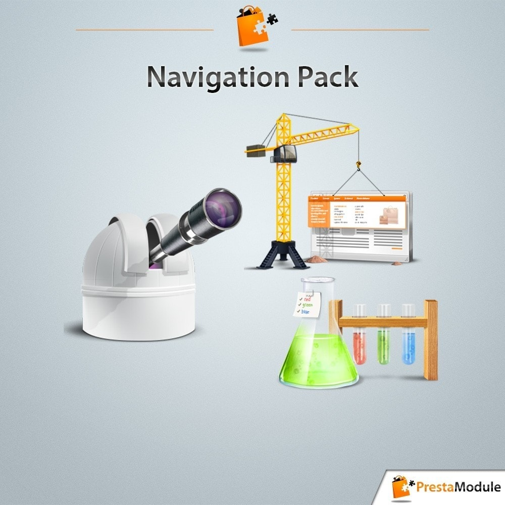 pack - De aanbiedingen van dit moment: bespaar geld! - Pack Navigation: 3 modules to optimize your catalog - 1