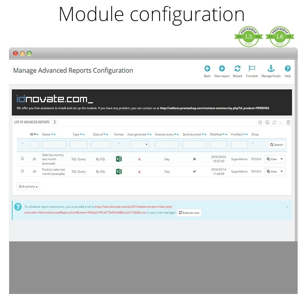 module - Contabilidade & Cobrança - Advanced reports - 2