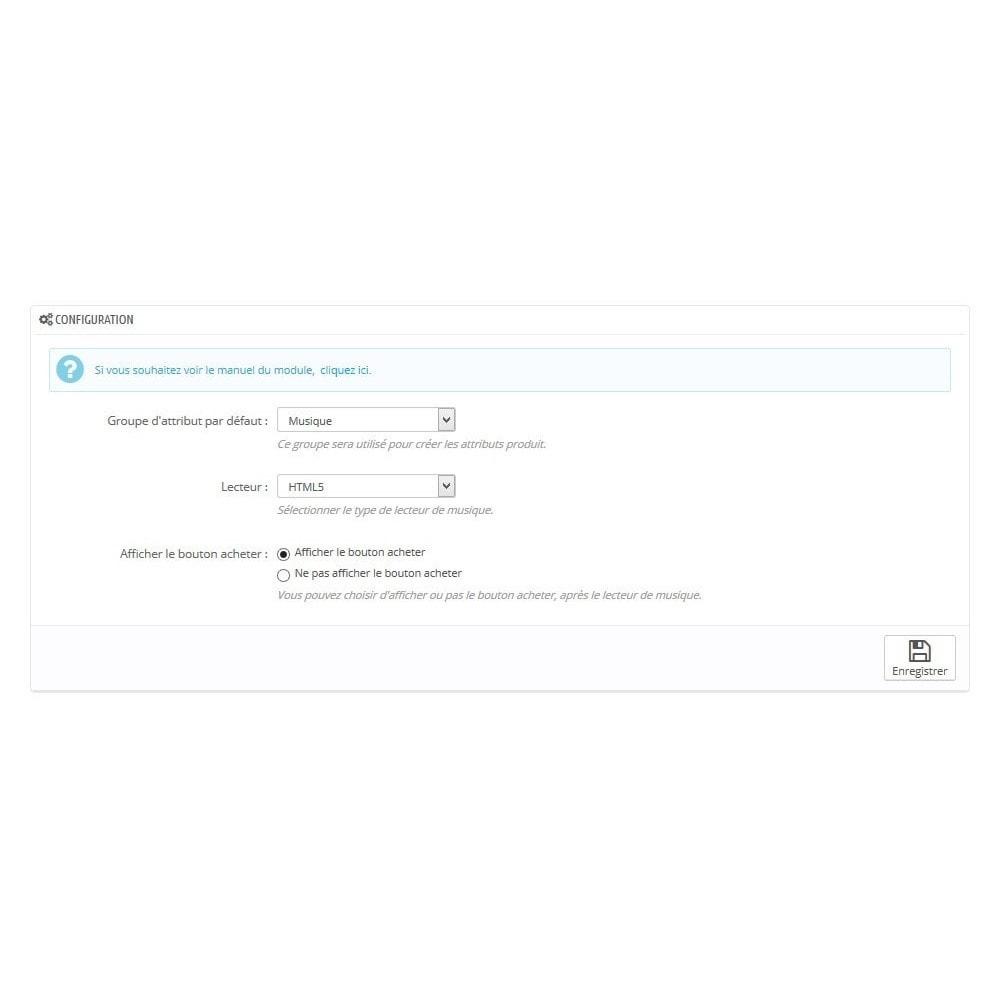 module - Produits virtuels (téléchargeables) - Télécharger des musiques MP3 avec lecteur - 1