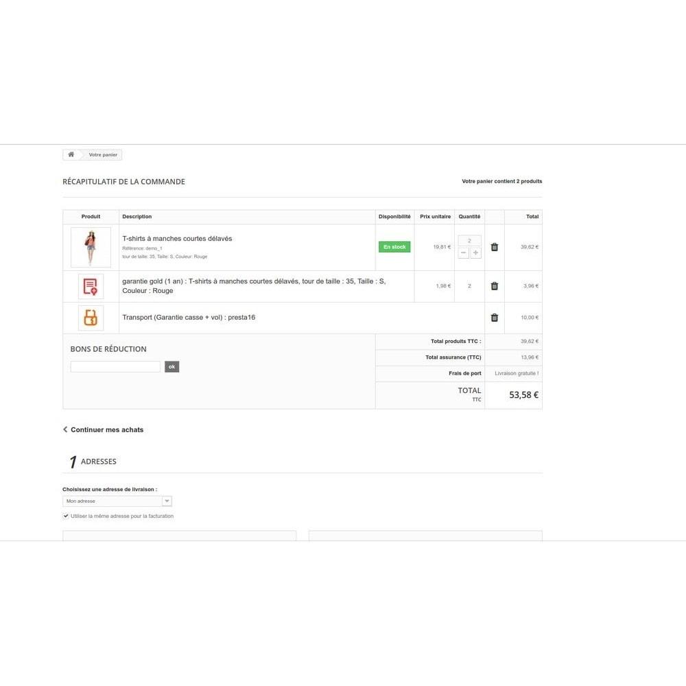 module - Ventes croisées & Packs de produits - Insurance - Assurance Produit et Transporteur - 15
