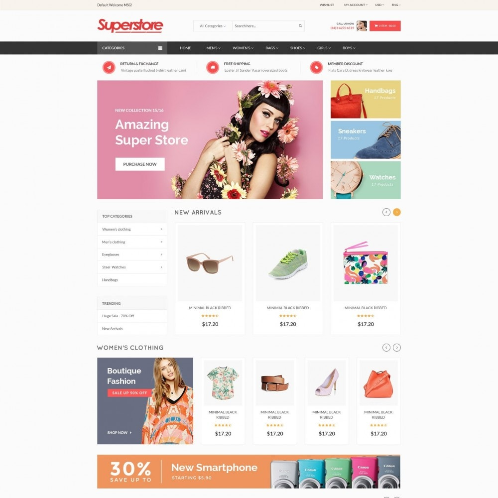 theme - Mode & Chaussures - SuperStore - Fashion, Furniture, Electronic Responsive - 2