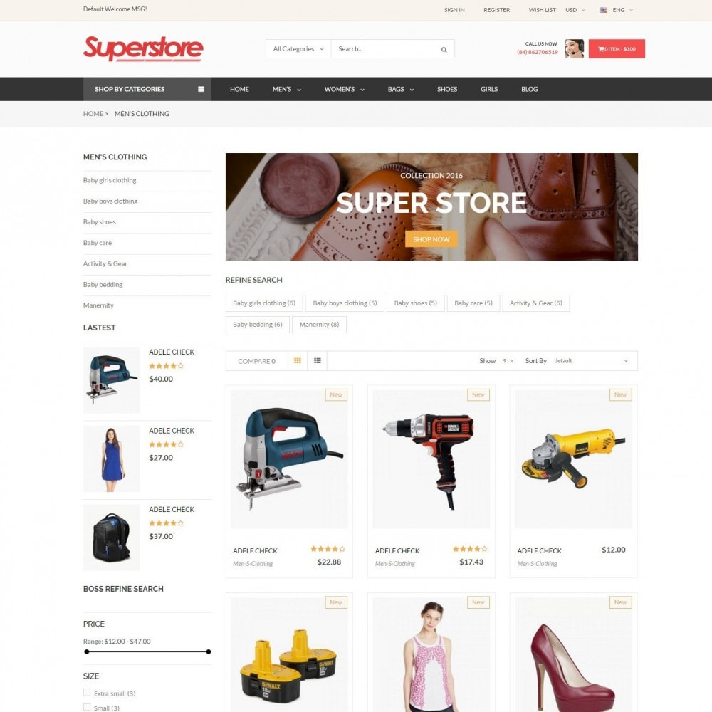 theme - Fashion & Shoes - SuperStore - Fashion, Furniture, Electronic Responsive - 3
