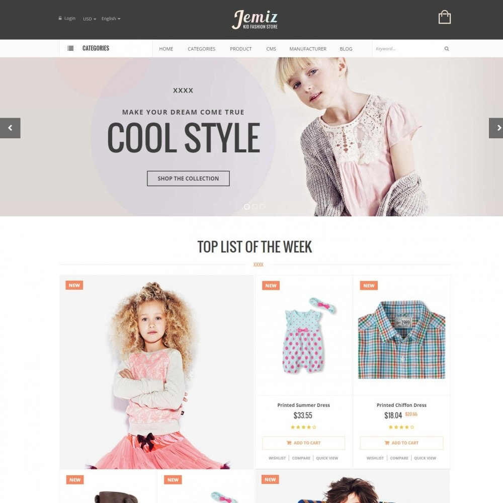theme - Kids & Toys - Jemiz - Childrens,Babies, Kids Fashion Responsive Store - 2