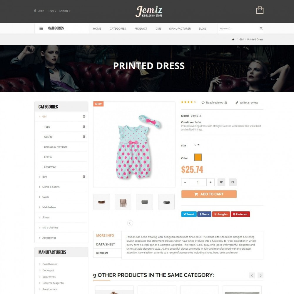 theme - Enfants & Jouets - Jemiz - Childrens,Babies, Kids Fashion Responsive Store - 5