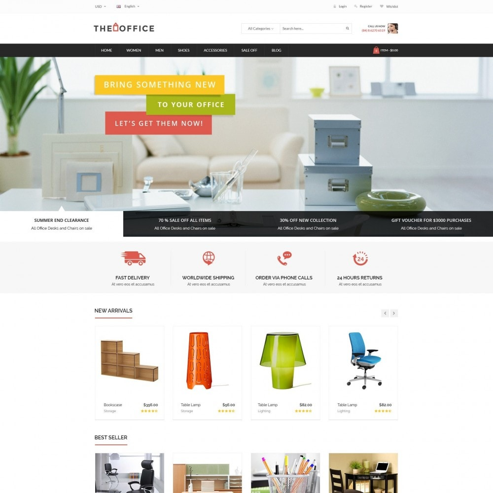 theme - Dom & Ogród - Office - Home, Furniture, Sofas, Wardrobes, Chest Store - 2