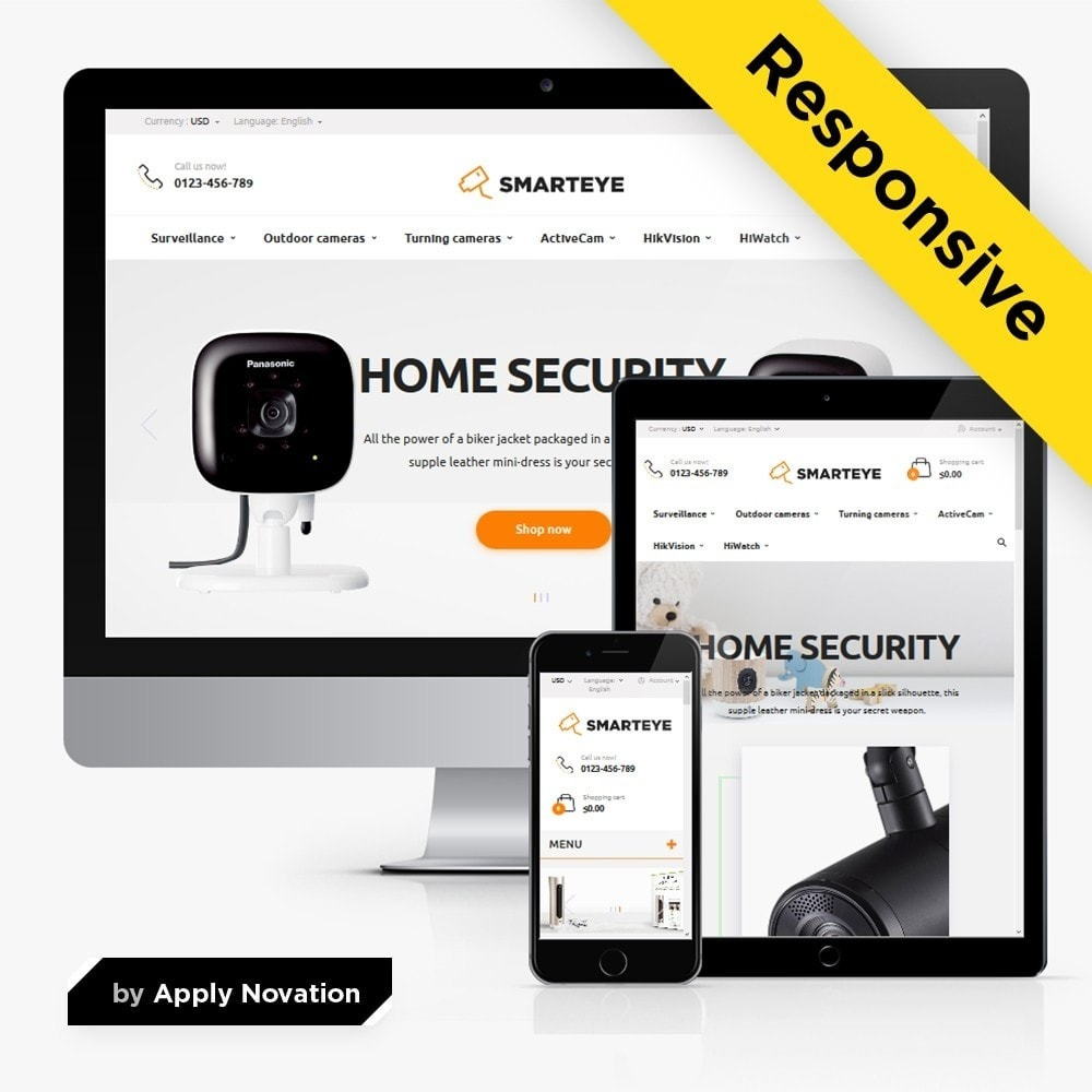 theme - Eletrônicos & High Tech - SmartEye Security Cameras - 1