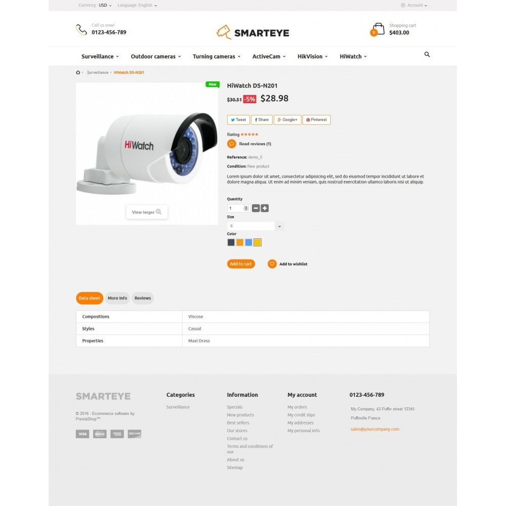 theme - Elettronica & High Tech - SmartEye Security Cameras - 7