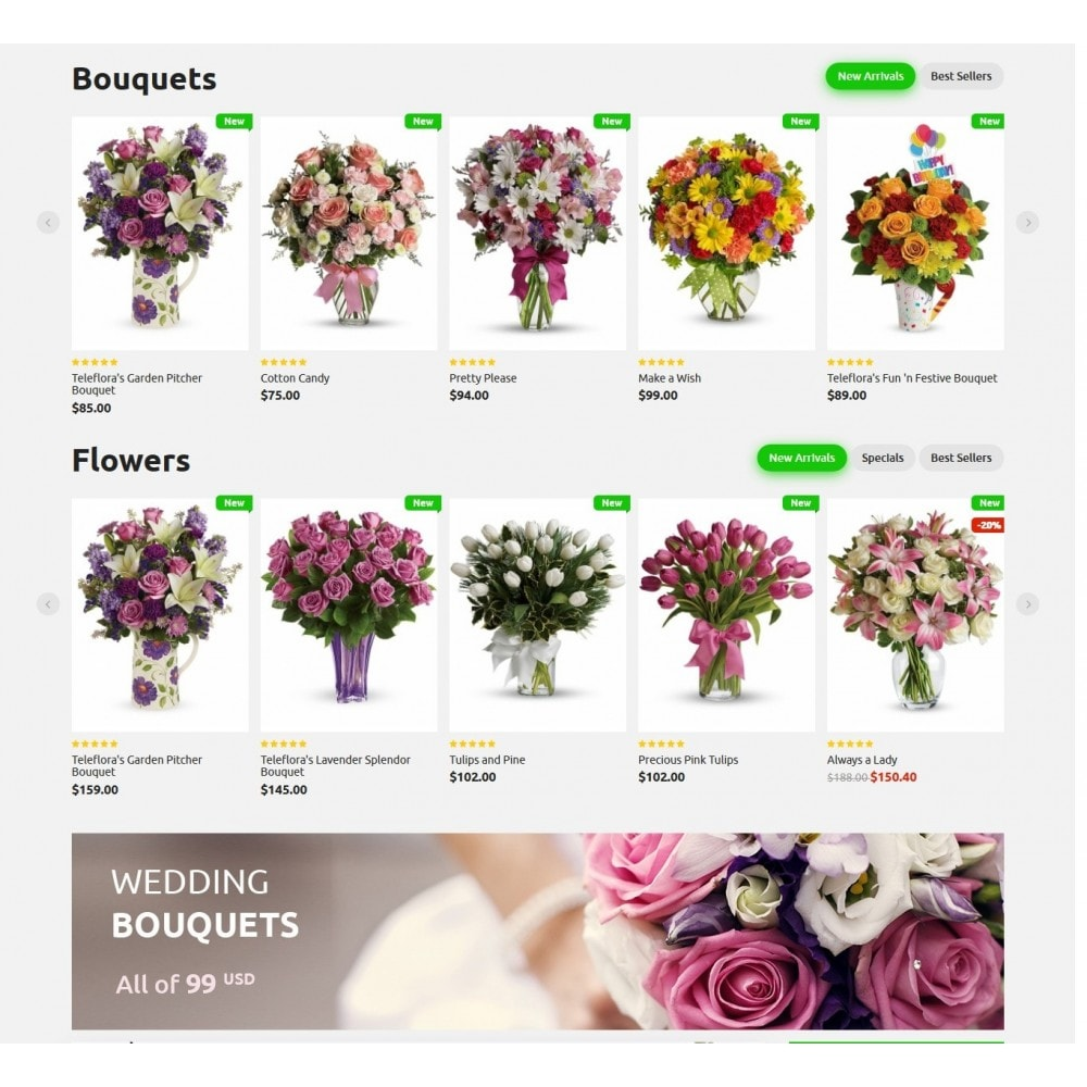 theme - Regalos, Flores y Celebraciones - Bouquets Flower Shop - 3