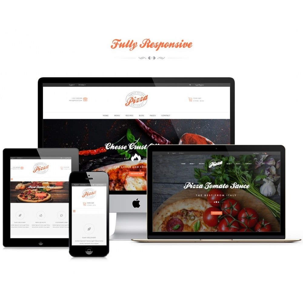 theme - Продовольствие и рестораны - JMS Pizza - 1