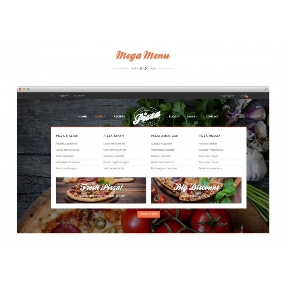 theme - Food & Restaurant - JMS Pizza - 2