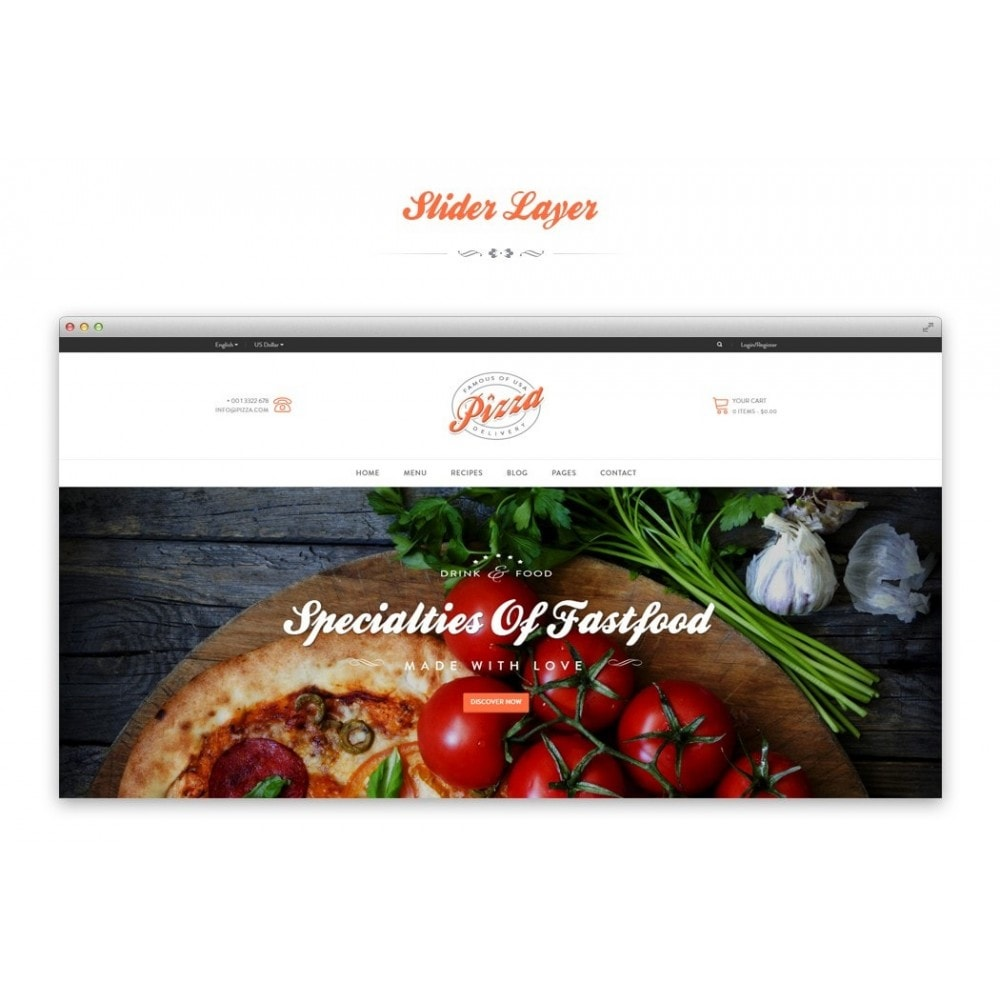 theme - Alimentation & Restauration - JMS Pizza - 4