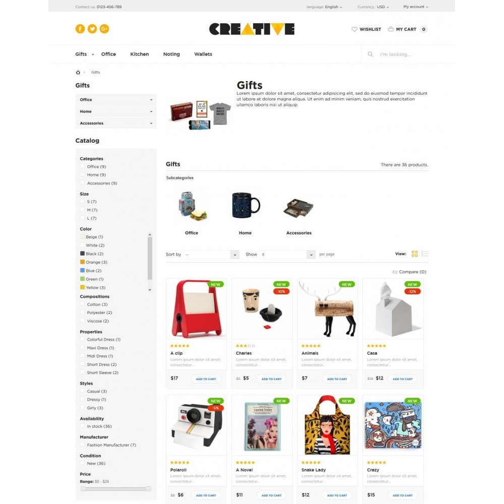 theme - Gifts, Flowers & Celebrations - Creative Store - 5