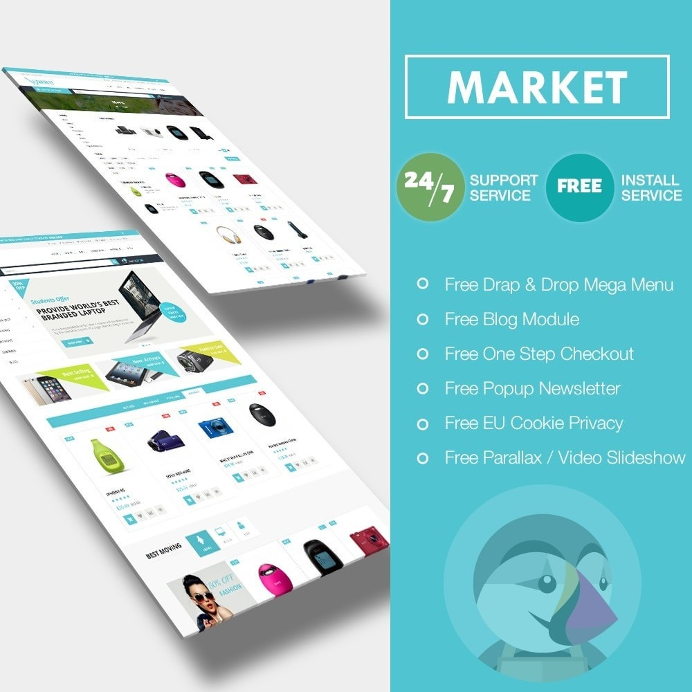 theme - Electronique & High Tech - Market Shopping Premium - 1