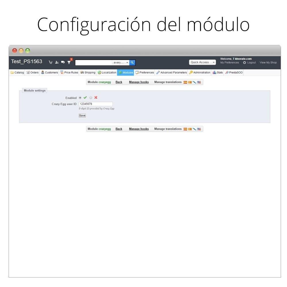 module - Informes y Estadísticas - Crazy Egg - Visualiza dónde clican tus visitantes - 3