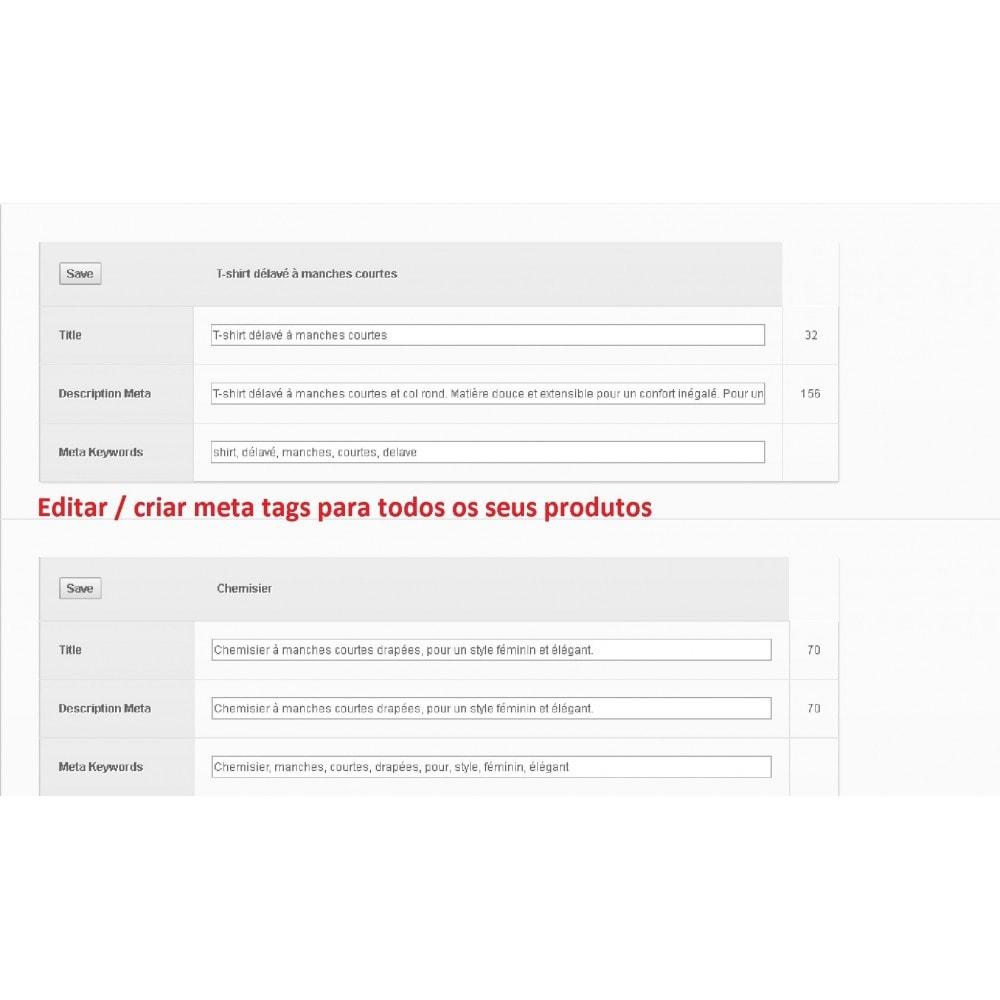 module - SEO (Referenciamento natural) - META TAGS EDITOR - 2
