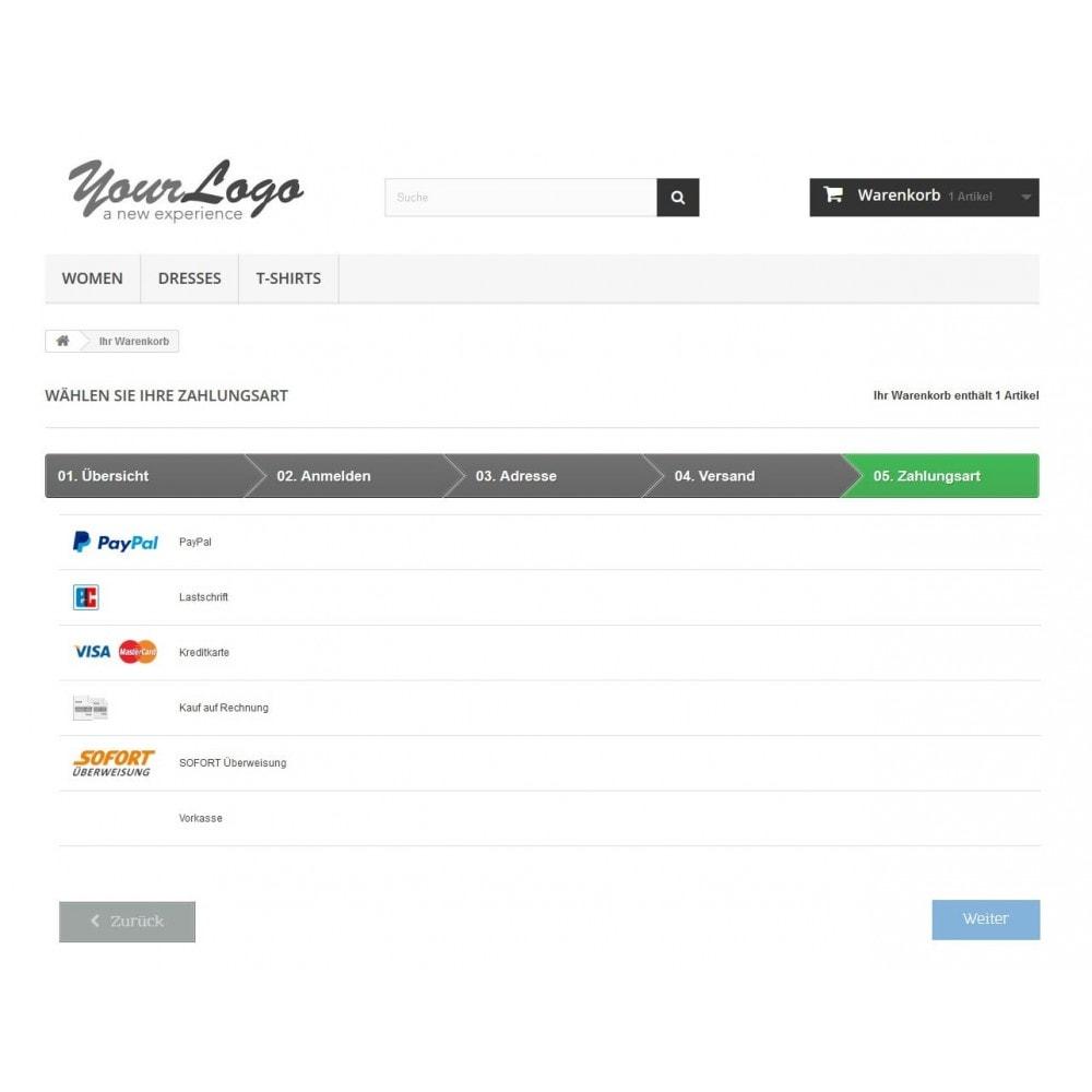 module - Zahlung per Kreditkarte oder Wallet - PayPal Plus - Rechnung, Lastschrift, Kreditkarte - 1