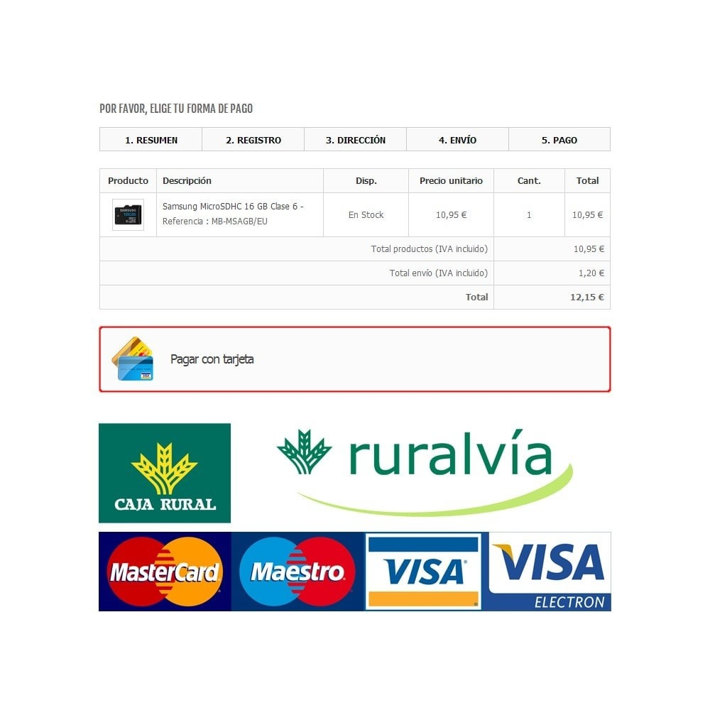 module - Payment by Card or Wallet - Caja Rural / Ruralvia Virtual POS (Updated) - 1