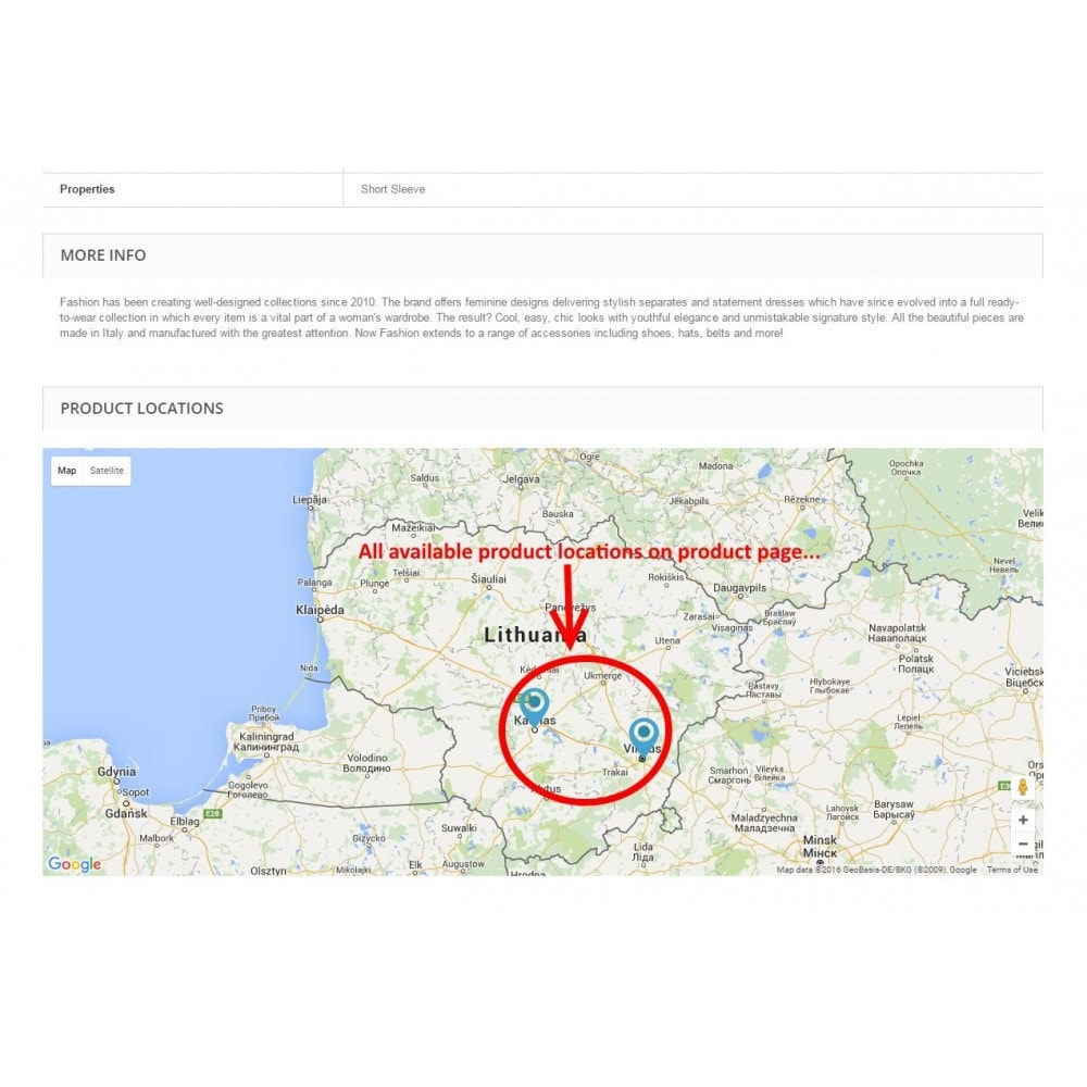 Search Products By Location And Google Maps Pro PrestaShop Addons - Vilnius maps google