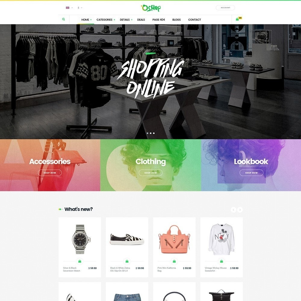 theme - Fashion & Shoes - Oshop - 1