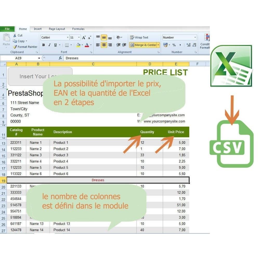 module - Import & Export de données - Mise à jour des prix et des quantités via un CSV - 6
