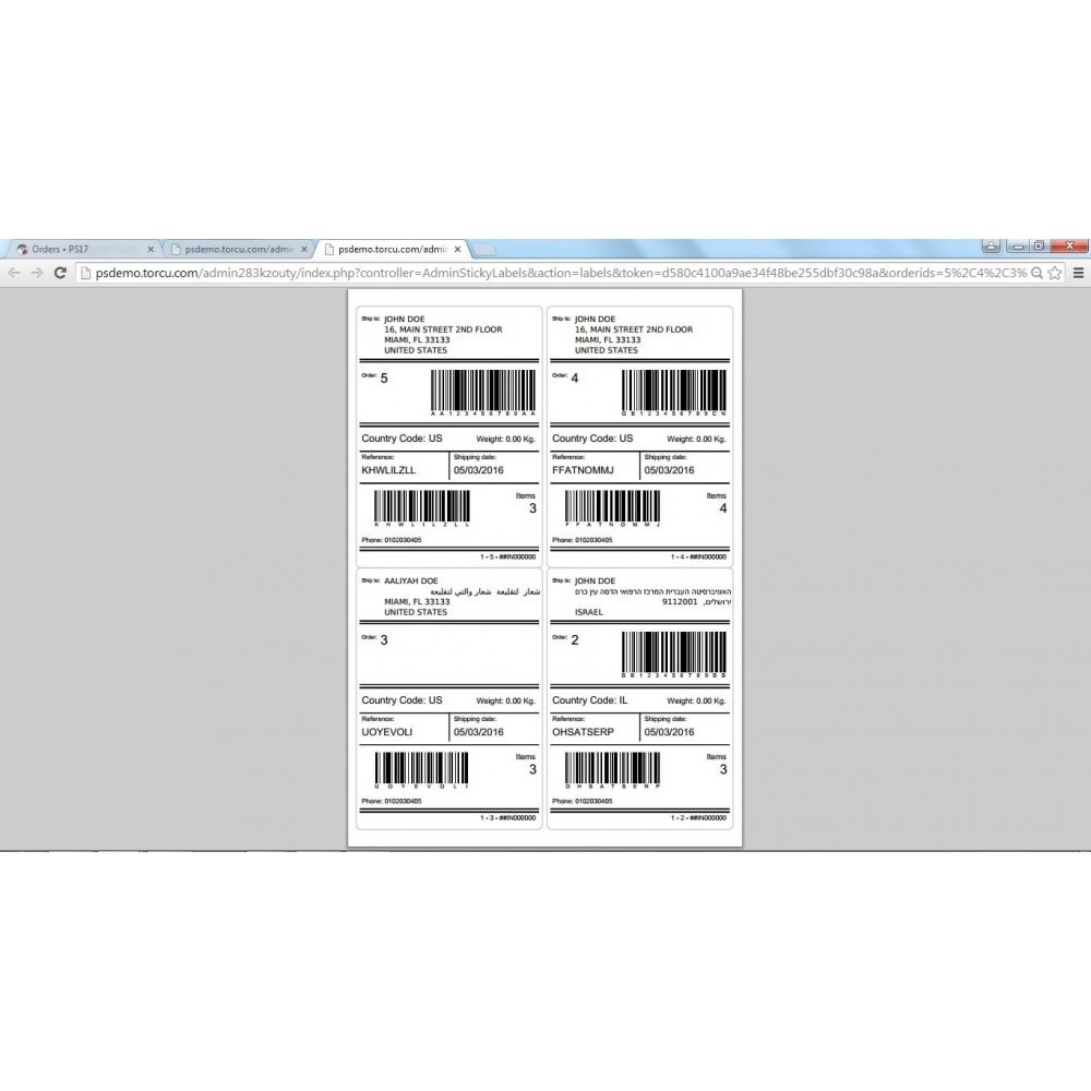 module - Préparation & Expédition - Sticky Labels - Professional Shipping Labels - 11