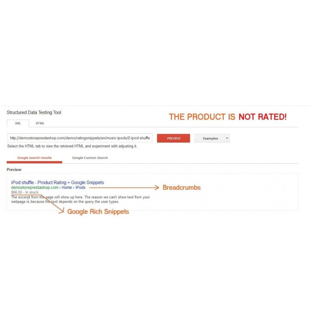 module - SEO (Posicionamiento en buscadores) - Product Rating + Google Snippets, Breadcrumb, Rich Pins - 7