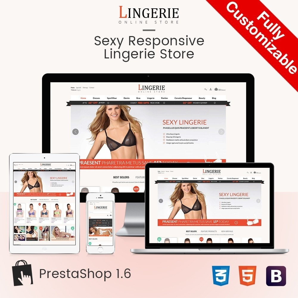 theme - Lingerie & Adult - Sleepwear & Sexy Lingeries Adult Store - 1