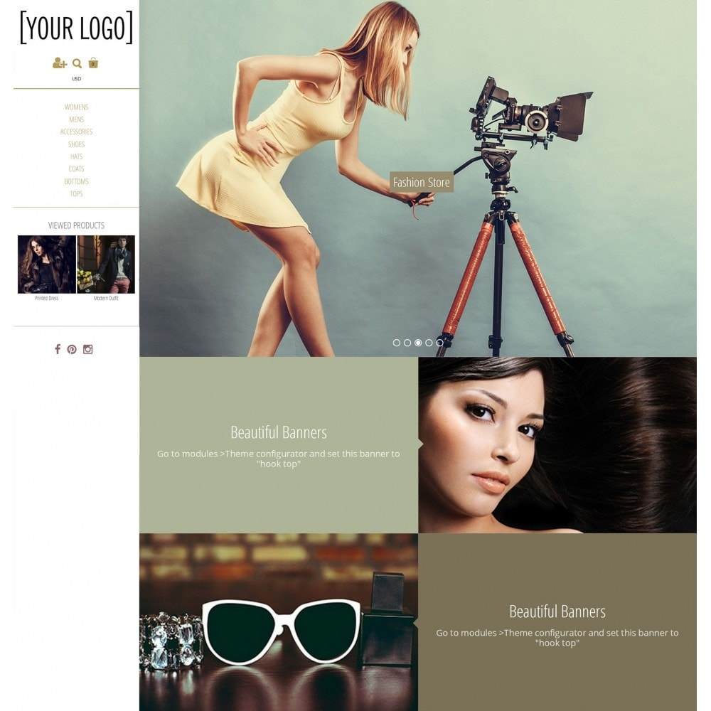 theme - Mode & Chaussures - Magnetic - Parallax moderne - 2