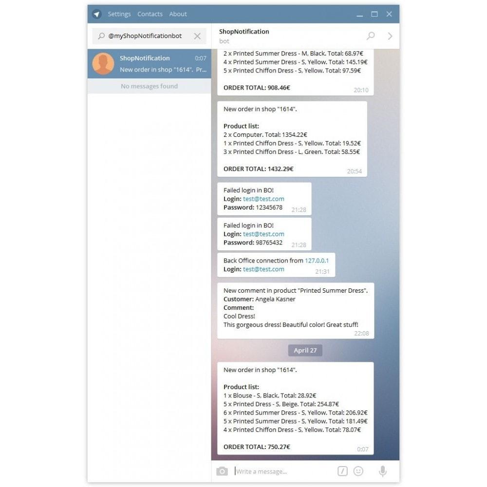 module - электронные письма и уведомления - Hedwig - уведомления в Telegram - 1