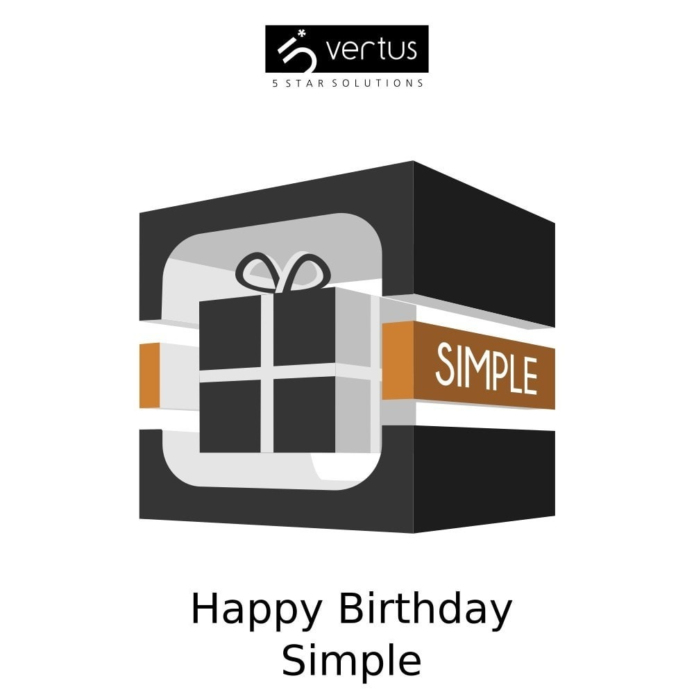 module - Promocje & Prezenty - Happy Birthday Simple - 1