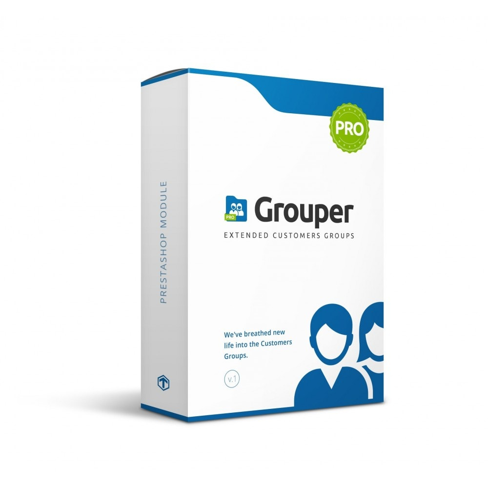 module - Gestion des clients - Grouper PRO - Extended Customers Groups - 1