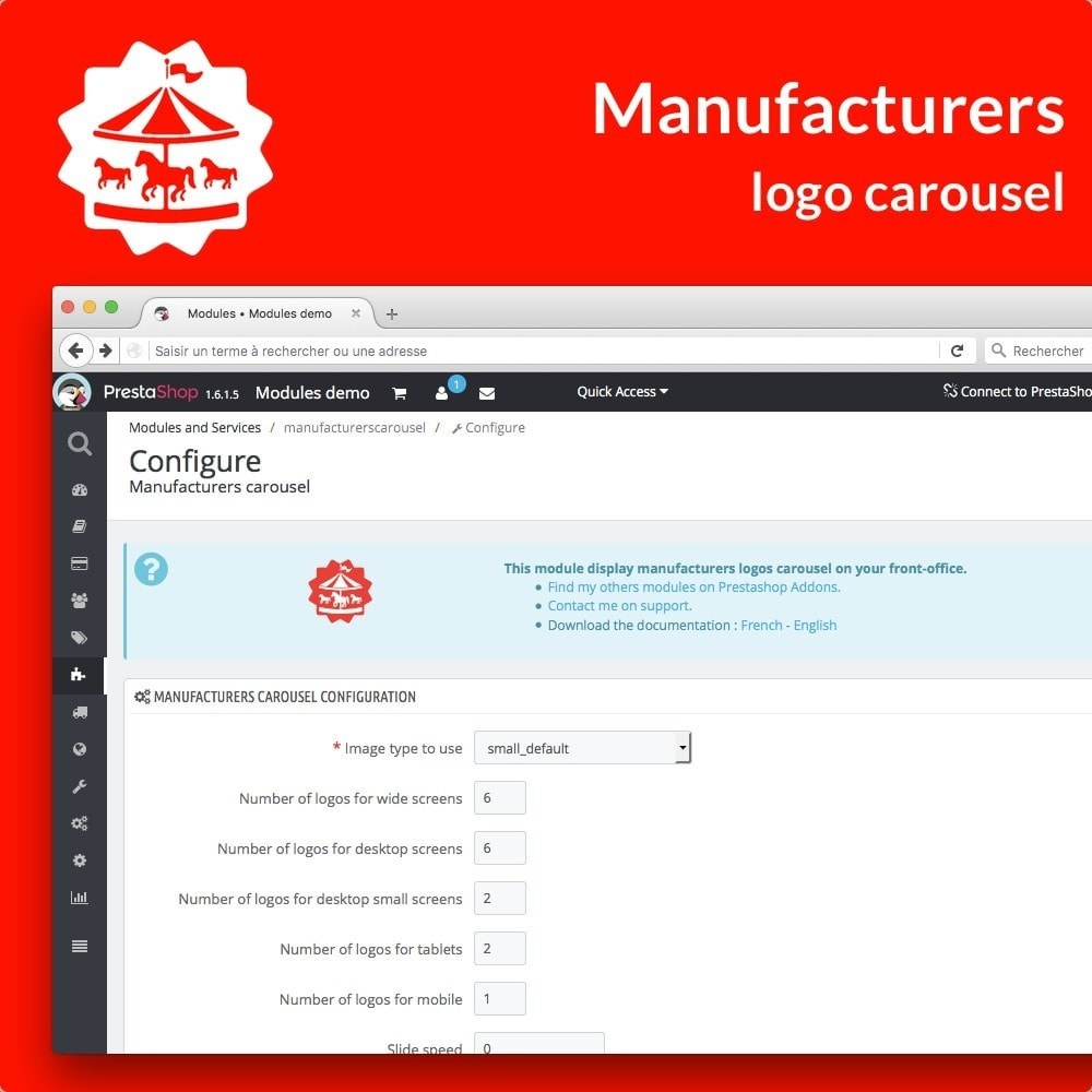 module - Marcas y Fabricantes - Manufacturer carousel - 2