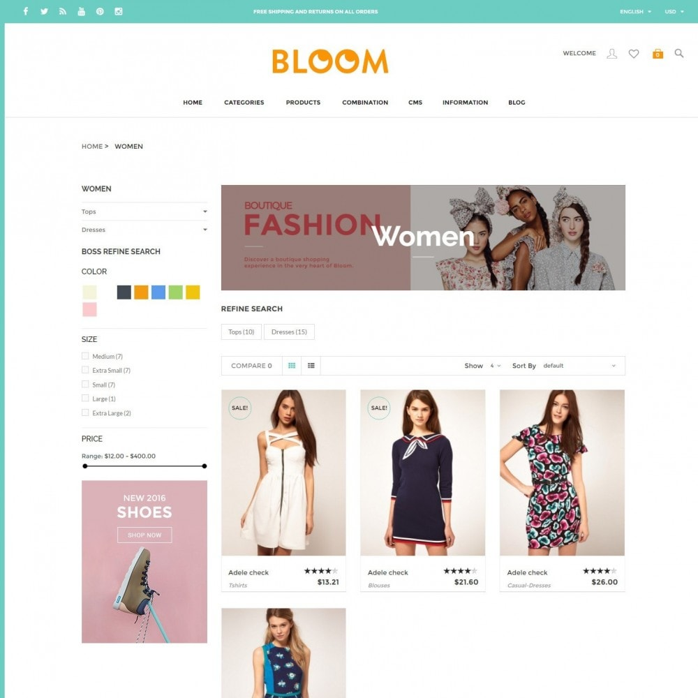 theme - Fashion & Shoes - Bloom | Clothing Fashion Store - 3