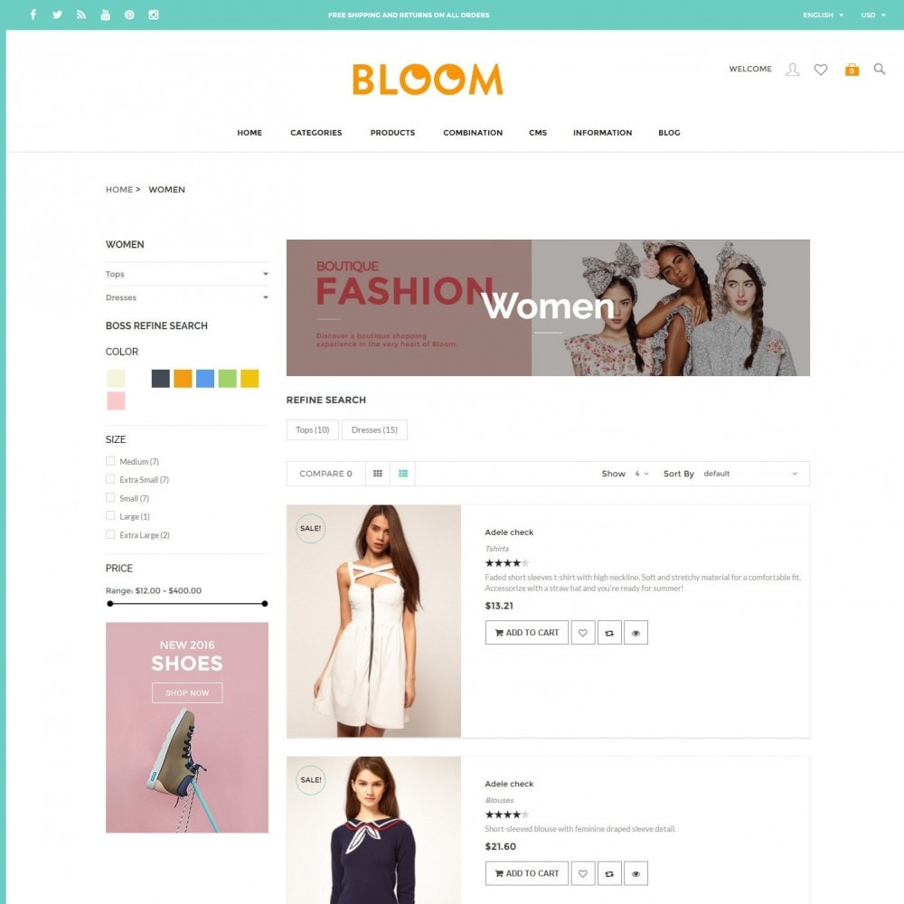 theme - Fashion & Shoes - Bloom | Clothing Fashion Store - 4