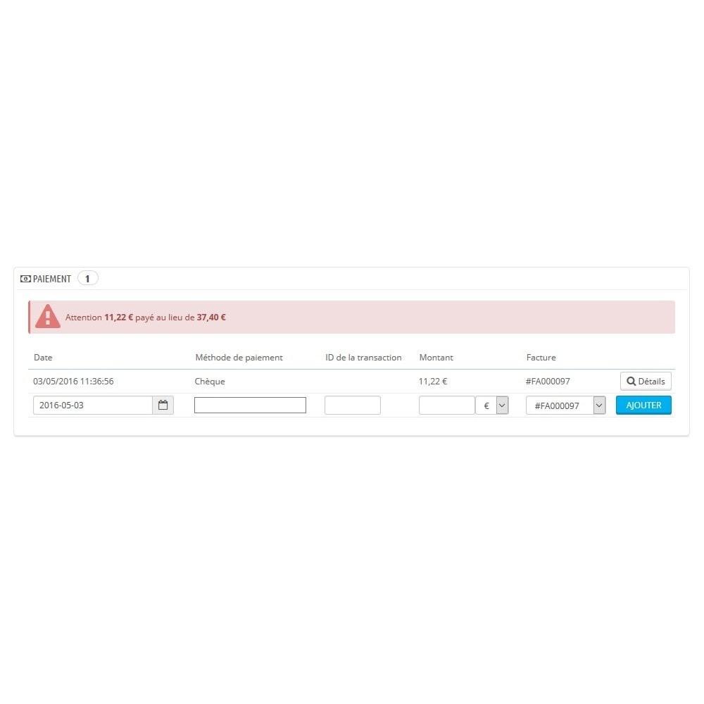 module - Autres moyens de paiement - Module d'acompte avec facture d'acompte - 2