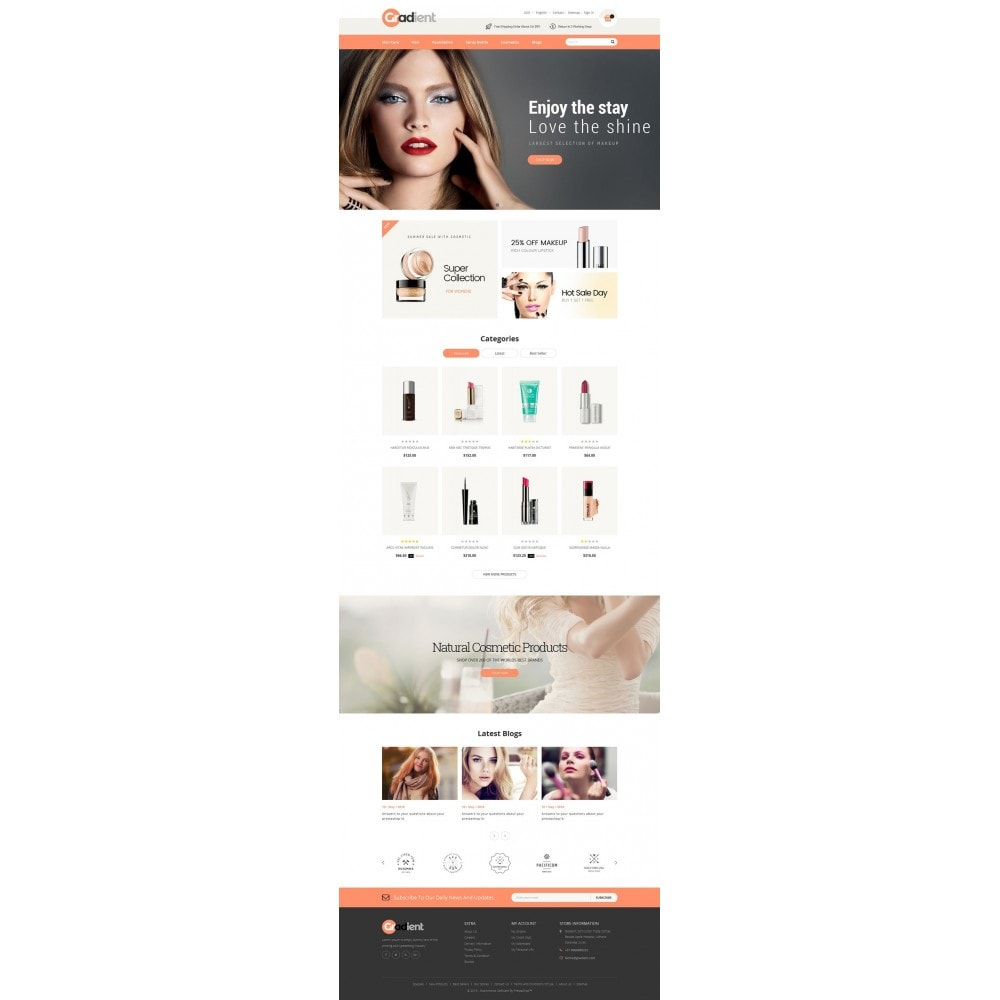 theme - Health & Beauty - Gradient Cosmetic Store - 2
