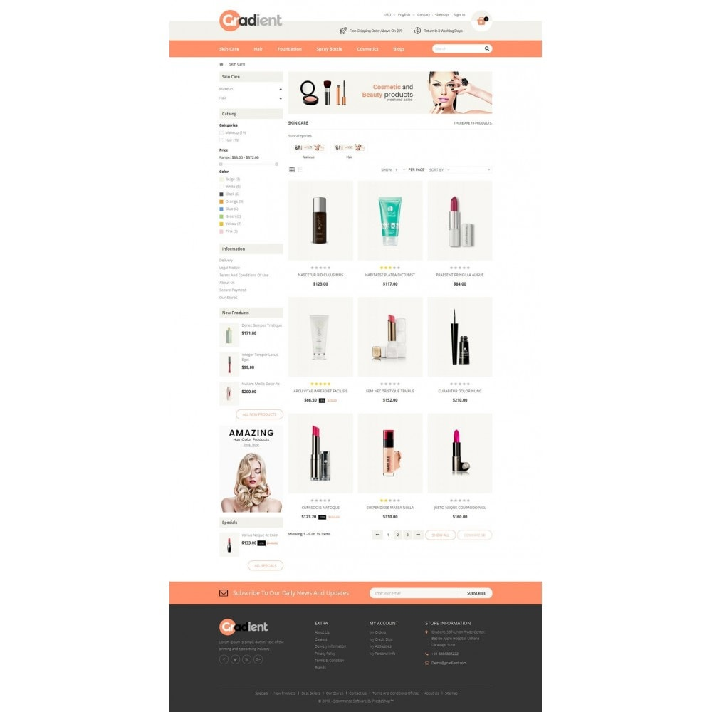 theme - Health & Beauty - Gradient Cosmetic Store - 3