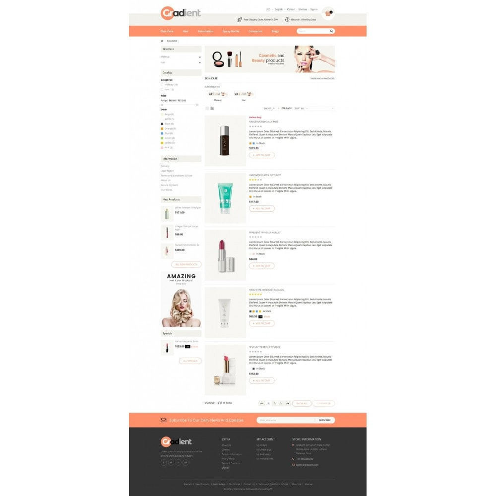 theme - Health & Beauty - Gradient Cosmetic Store - 4