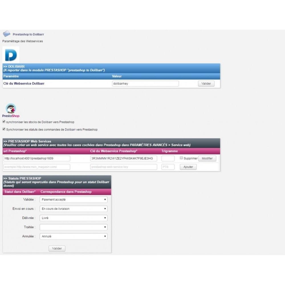 module - Connexion à un logiciel tiers (CRM, ERP...) - Prestashop to Dolibarr PRO - 7