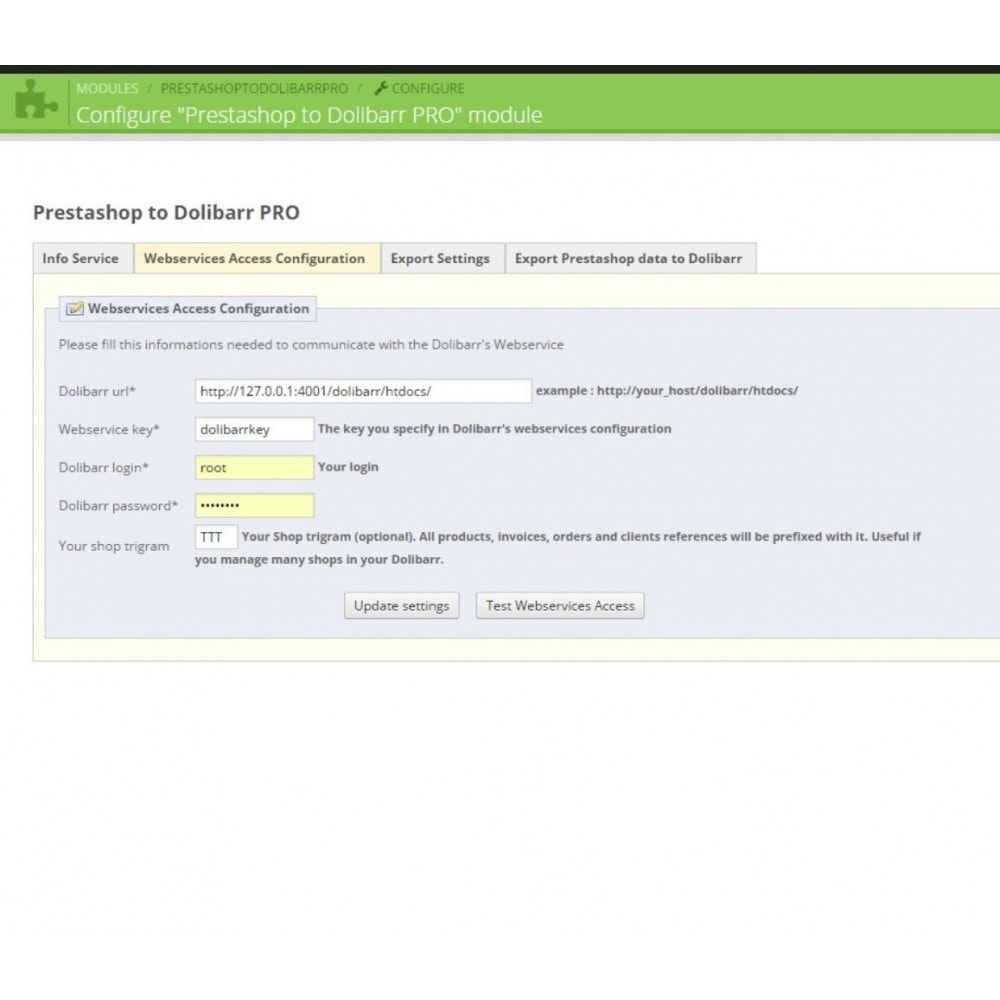 module - Third-party Data Integration (CRM, ERP...) - Prestashop to Dolibarr PRO - 4