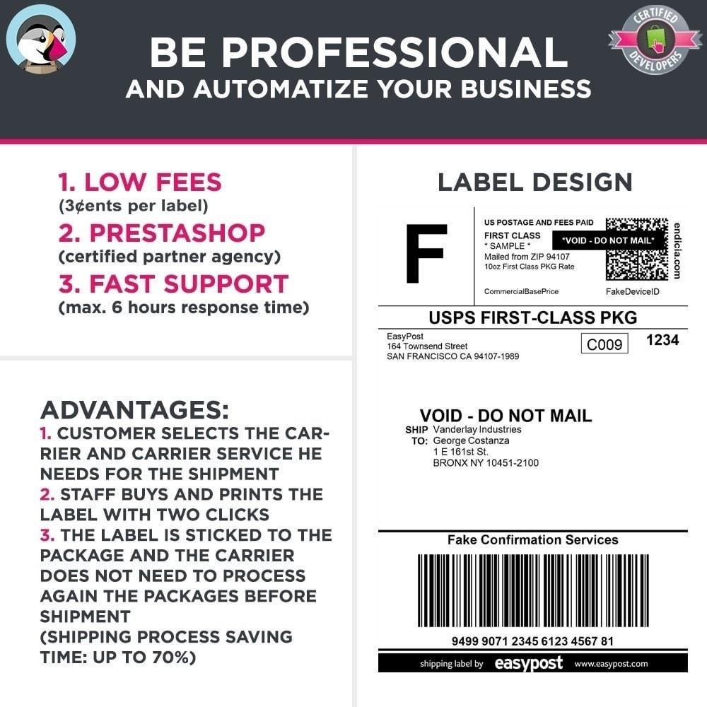module - Kommissionierung & Versand - Easy Post Pro (DHL, GLS, DPD, Colissimo, RoyalMail etc) - 8