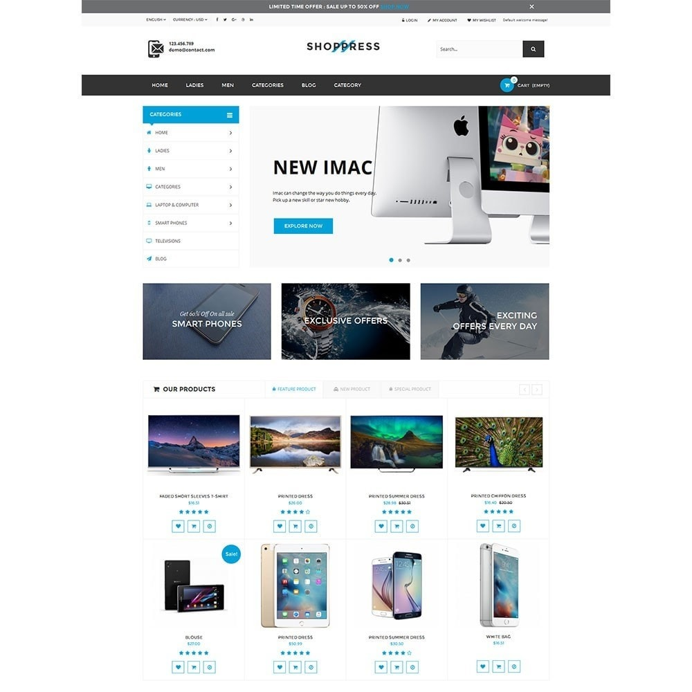 theme - Electronics & Computers - Shoppress Market Premium - 6
