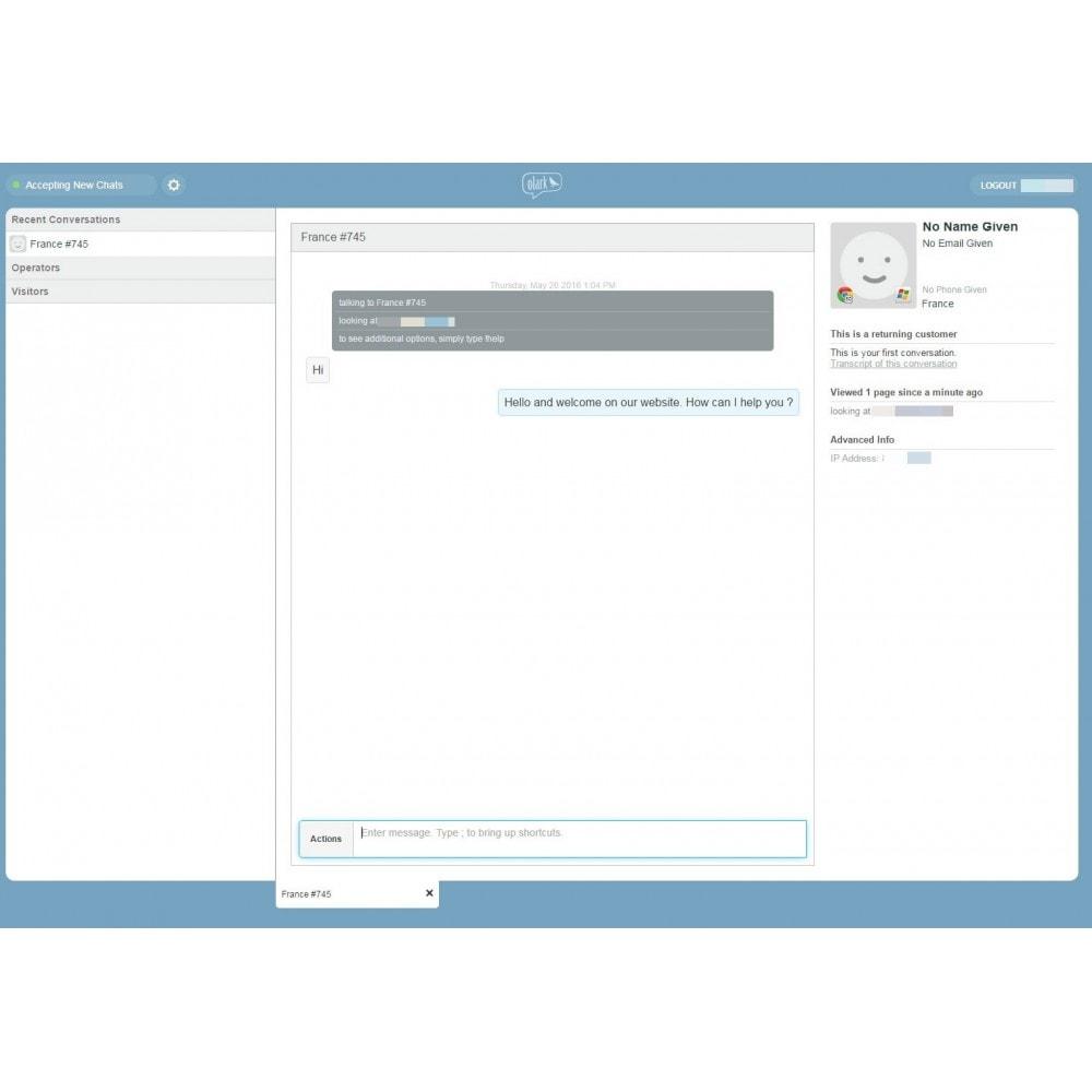 module - Support & Chat Online - Studio Vitamine : Olark - 3