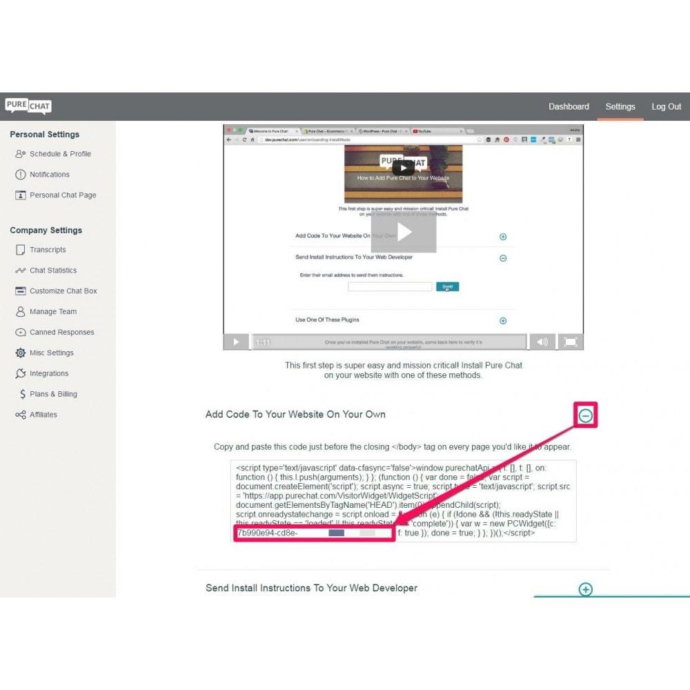 module - Support & Chat Online - Studio Vitamine : PureChat - 5