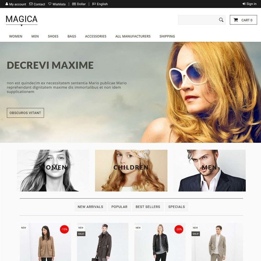 theme - Fashion & Shoes - Magica - 1