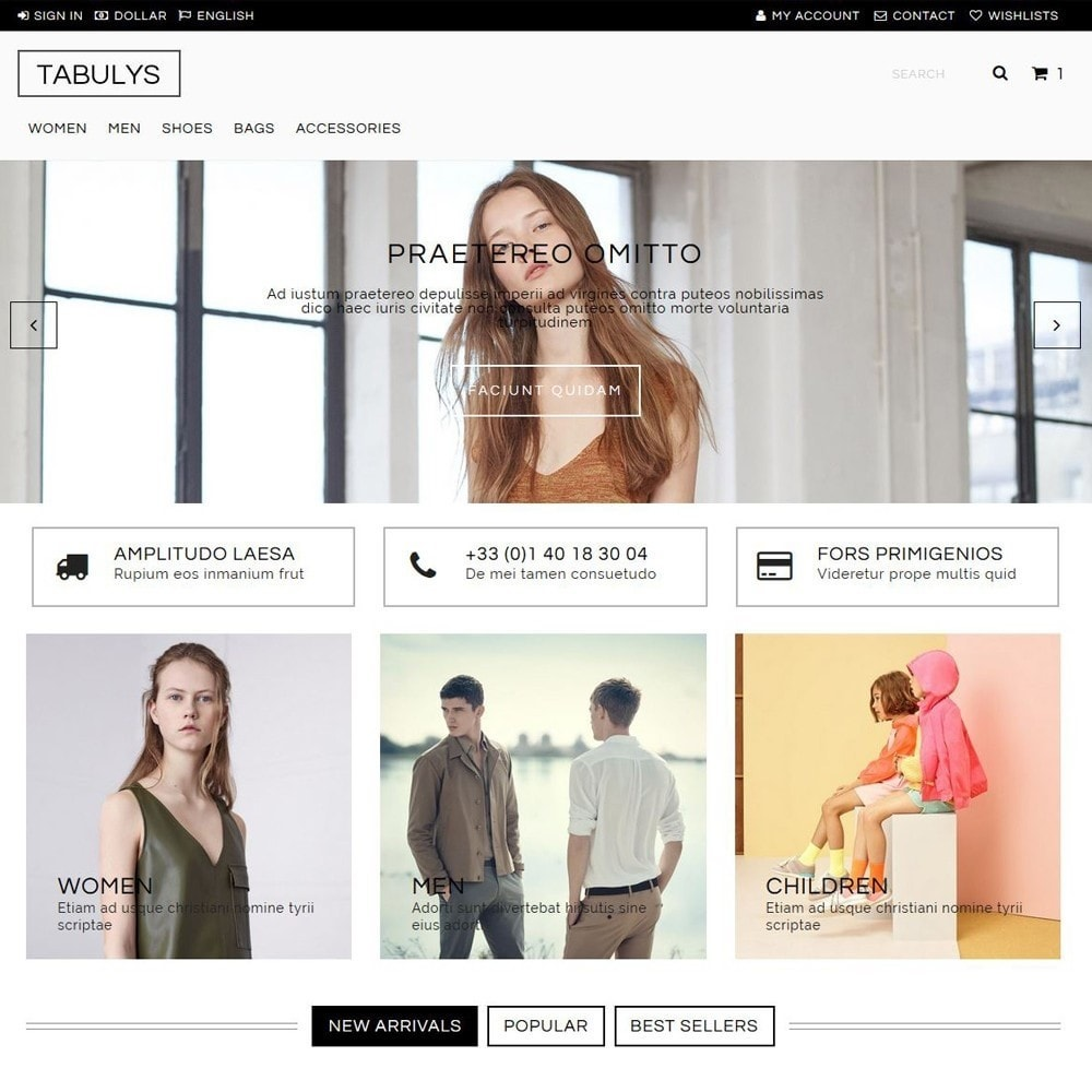 theme - Mode & Chaussures - Tabulys - 1