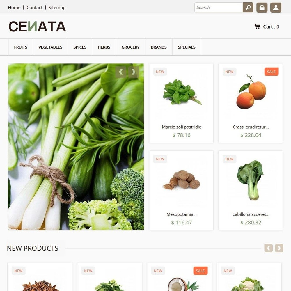 theme - Alimentation & Restauration - Cenata - 1
